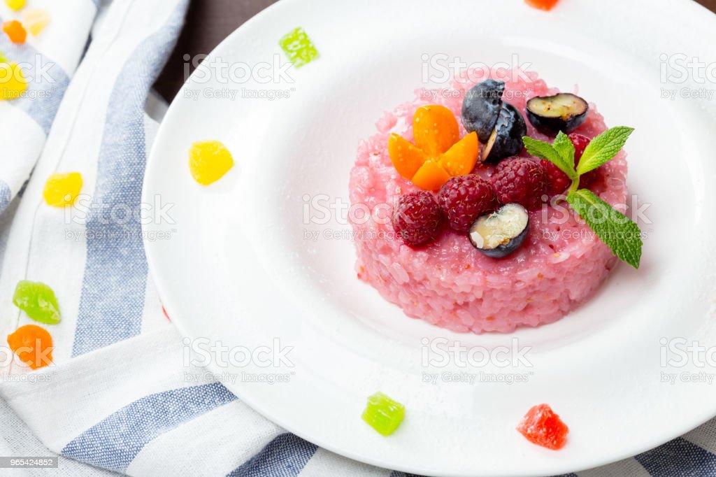 arroz doce japonês mochi rosa tratar - Foto de stock de Arroz - Alimento básico royalty-free