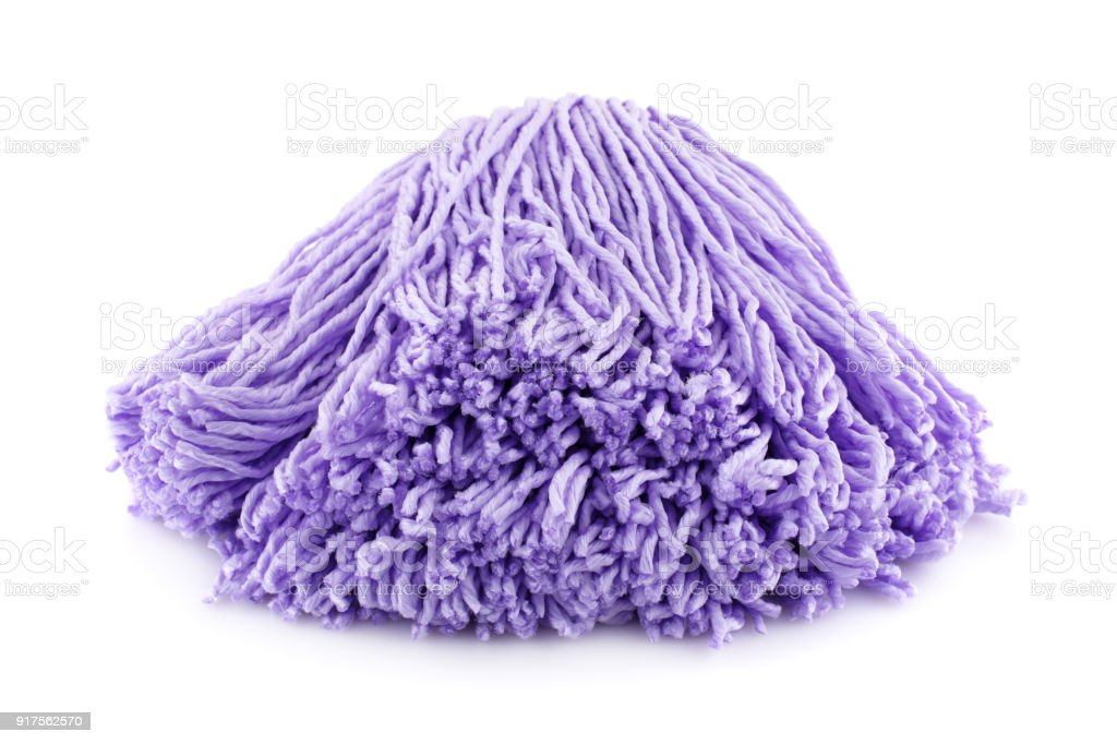 Pink mop stock photo