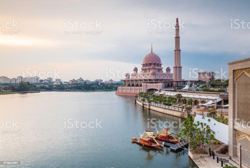 Pink mosque, Putrajaya, Malaysia royalty-free stock photo