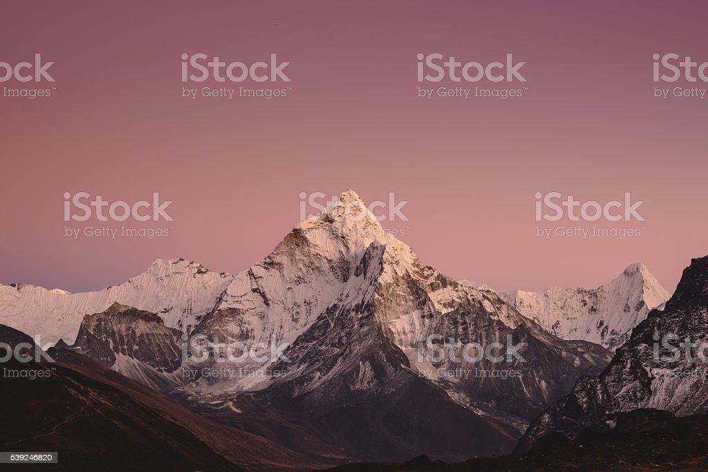 Pink Mountain stock photo