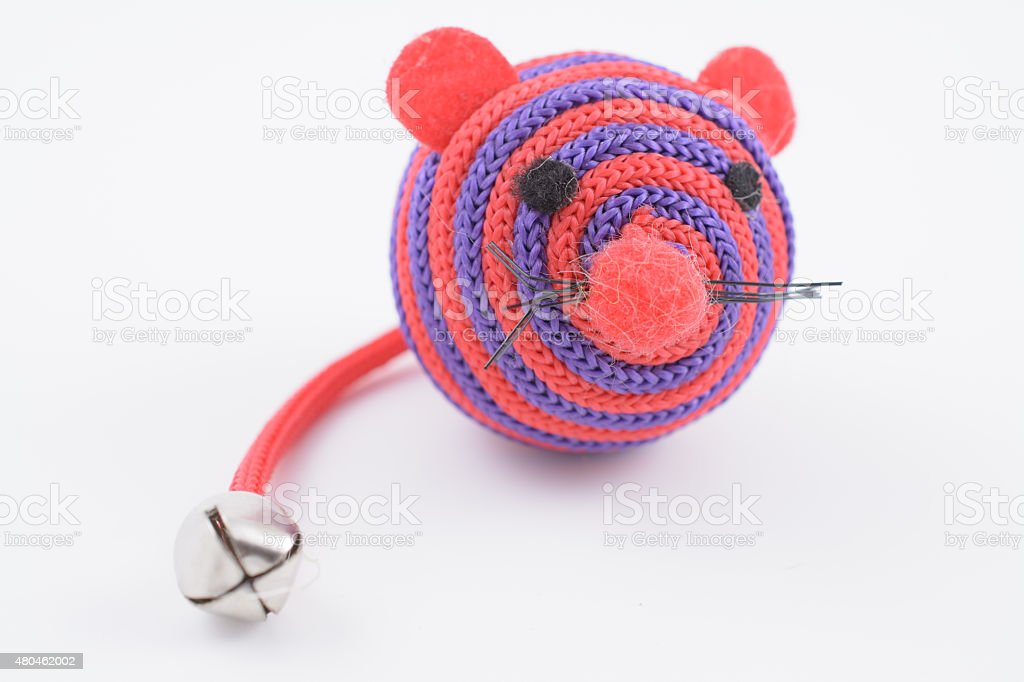 Pink Mouse Cat Toy stock photo
