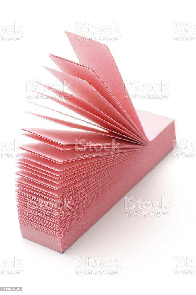 핑크 세폭 post-it royalty-free 스톡 사진