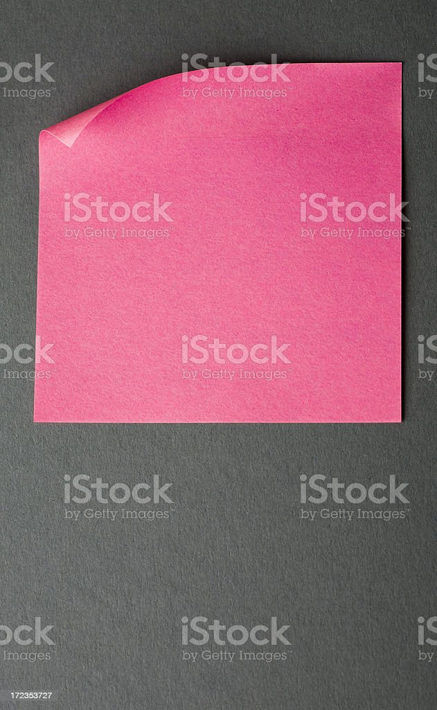Pink note royalty-free stock photo