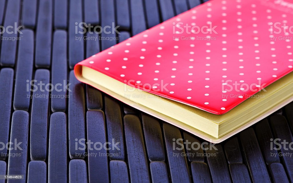 Pink notebook royalty-free stock photo