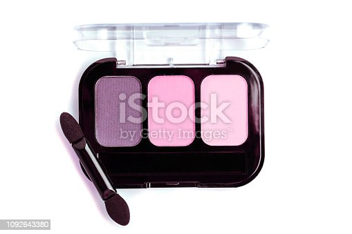 istock Pink nude Eye sfadows palette isolated on white. 1092643380