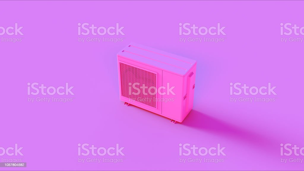 Pink Office Air Conditioner stock photo