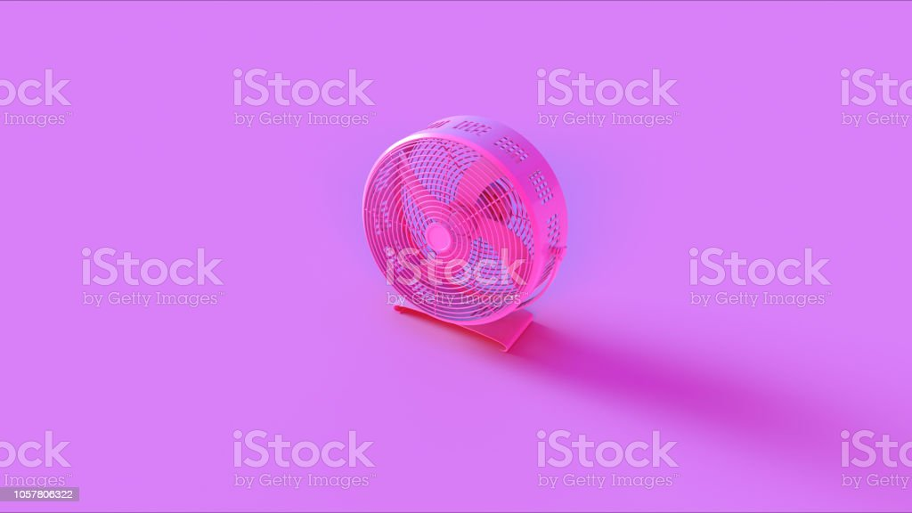 Pink Office Cooling fan stock photo