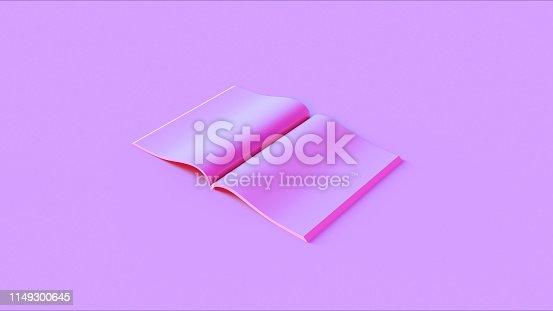 istock Pink Open Magazine 1149300645