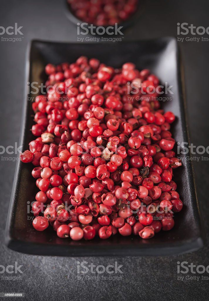 Pink or Brazilian pepper stock photo