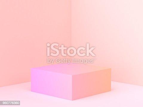 istock pink orange abstract wall corner scene 3d rendering minimal gradient podium 950776360