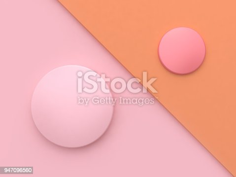 istock pink orange tilted background circle shape minimal abstract background 3d rendering 947096560