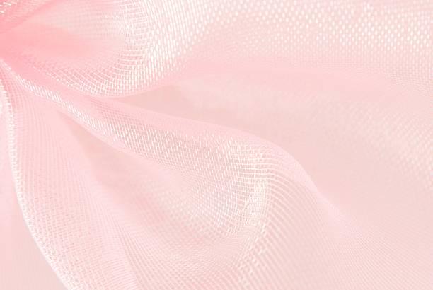 organza różowy makro rozmyte tekstury tło - tiul tkanina zdjęcia i obrazy z banku zdjęć
