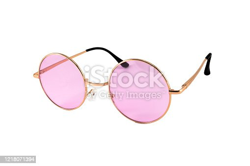 1047544590 istock photo Pink Oval Sunglasses Isolated on White 1218071394