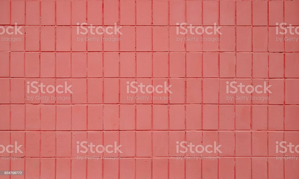 Pink painted ceramic tile wall texture royalty free stockfoto