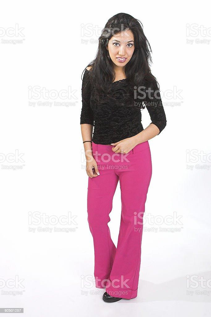 Pink pants royalty-free stock photo