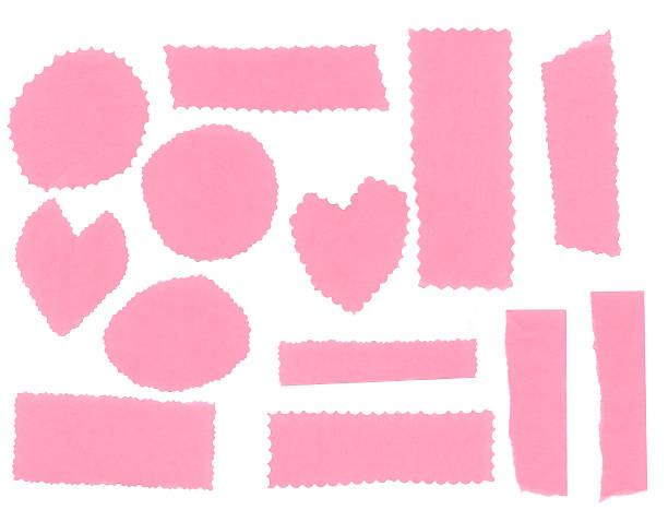 Pink paper collection stock photo