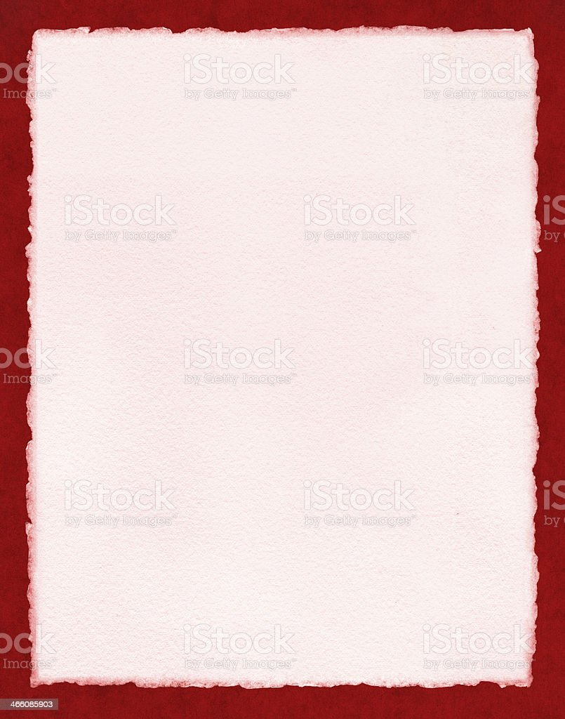 Pink Paper on Red stock photo