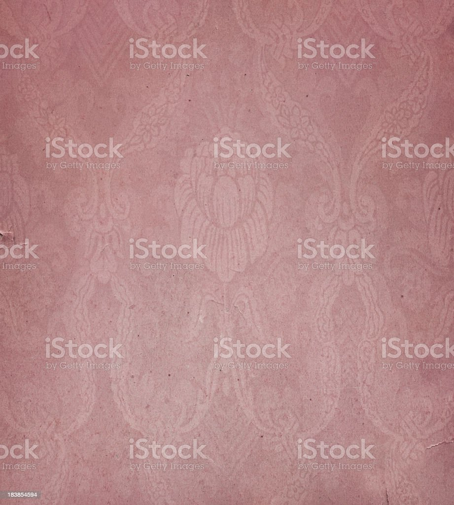 pink paper with floral pattern royalty-free stock photo
