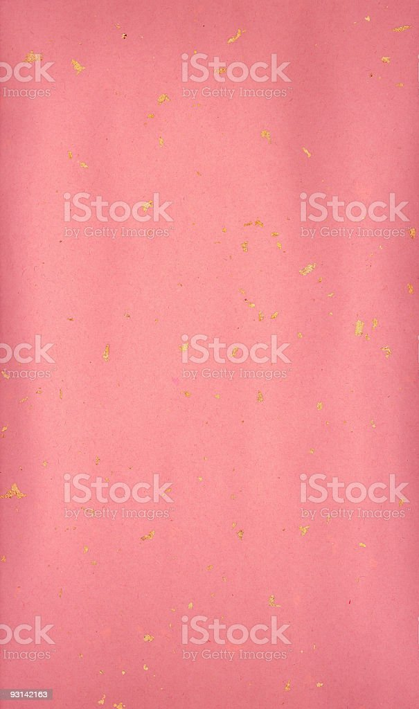 Pink paper with gold impregnations (XXL) royalty-free stock photo
