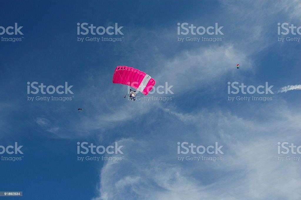 Pink Parachute stock photo