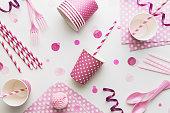 ピンクのパーティの背景