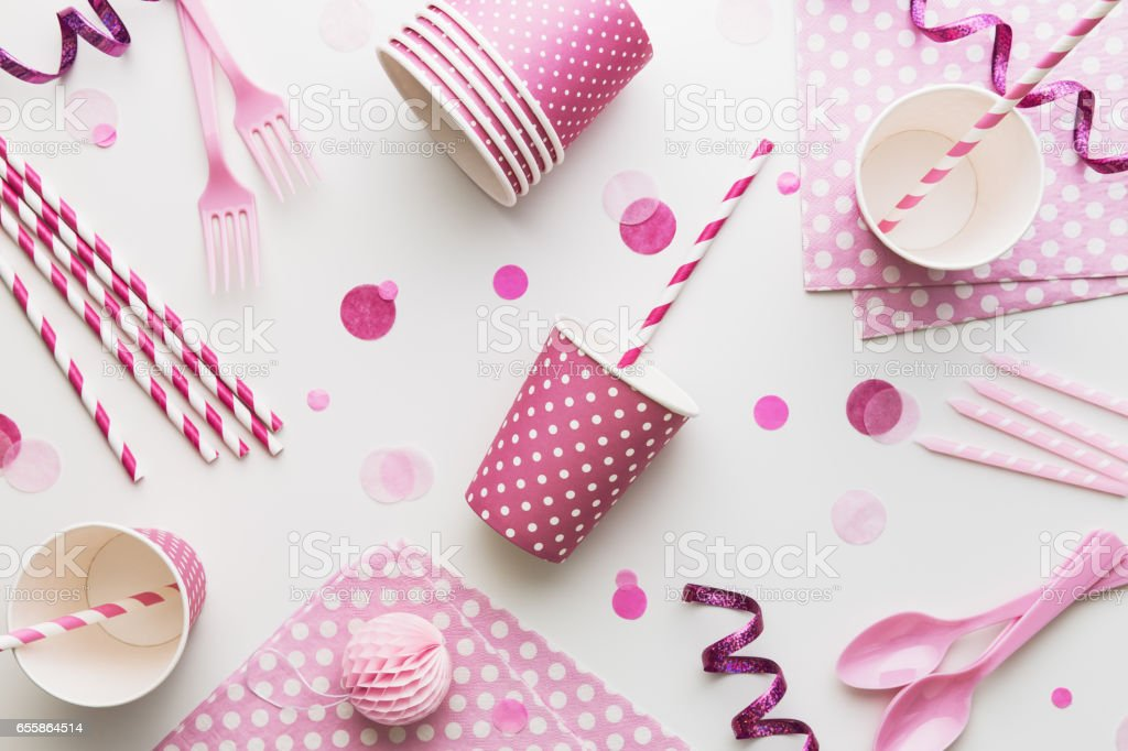 Pink party background stock photo