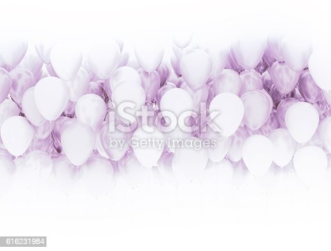 815229514 istock photo Pink party balloons background 616231984