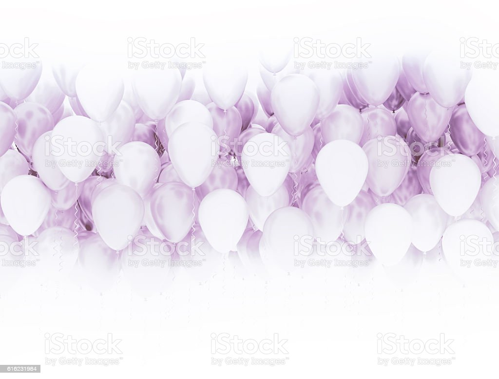 Pink party balloons background stock photo