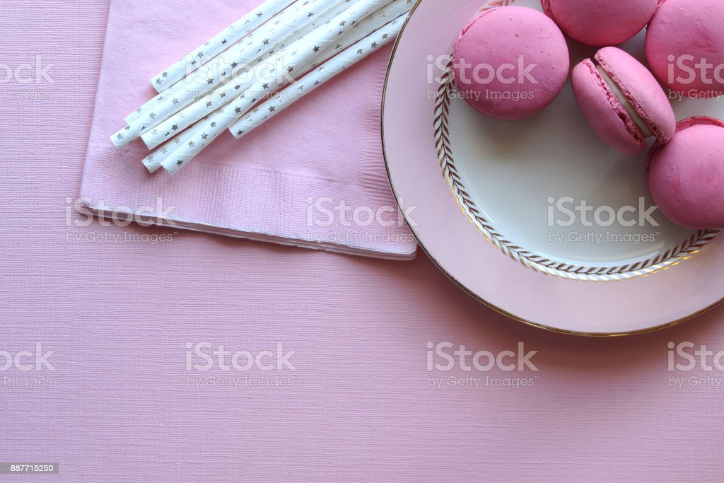 Pink party stock photo
