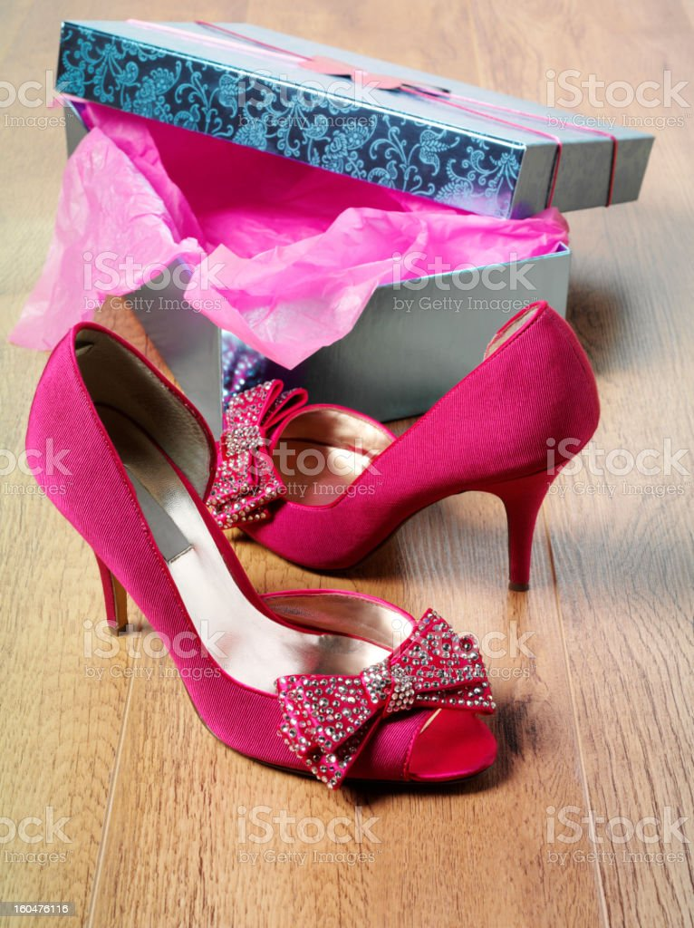 Pink Party Shoes royalty-free stock photo