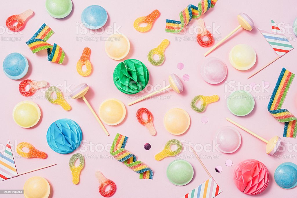 Pink pastel candy background stock photo