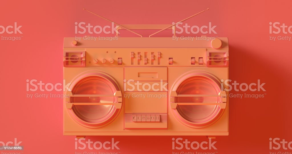 Rose pêche Boombox - Photo