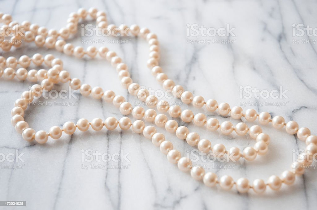 Pink Pearl Necklace stock photo
