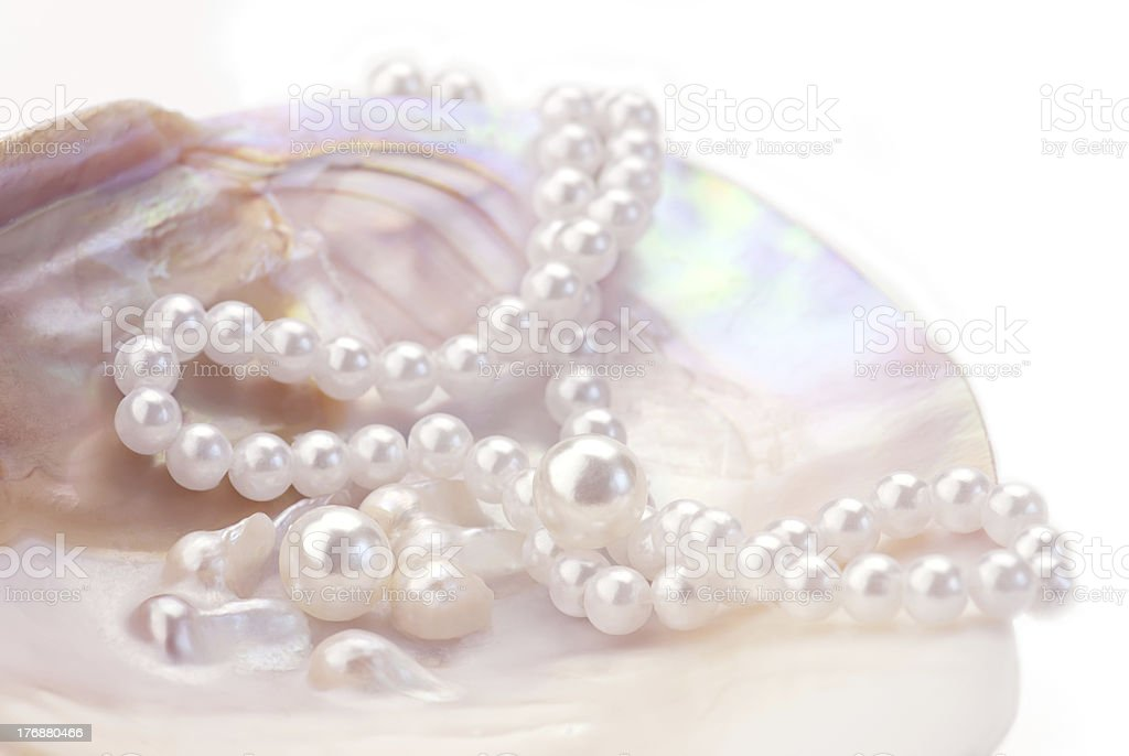 pink pearls stock photo