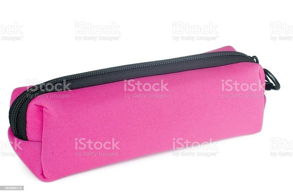 Astuccio rosa isolato su sfondo bianco - foto stock