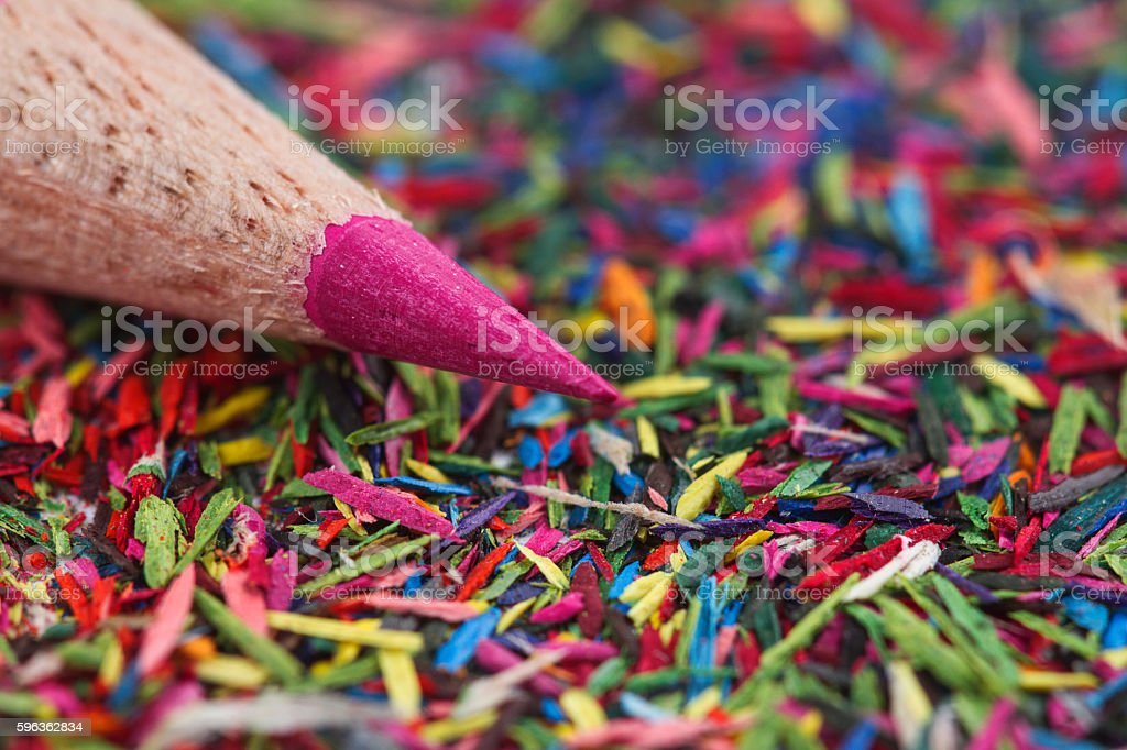 Pink pencil macro royalty-free stock photo