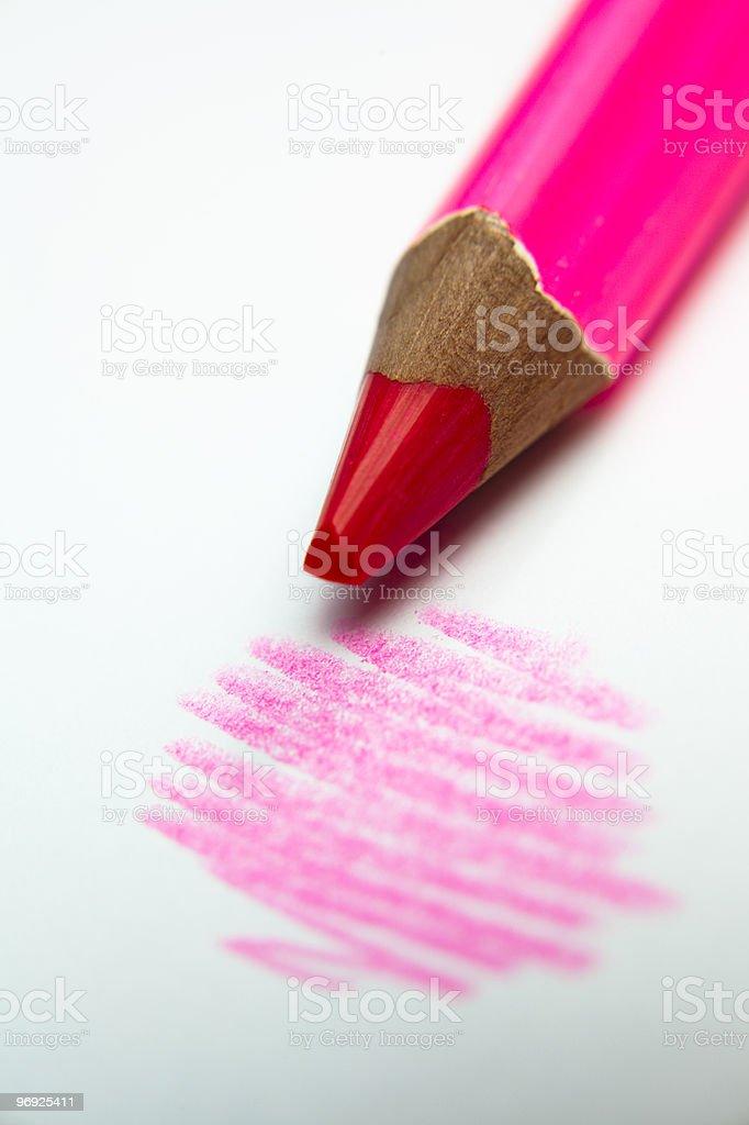 pink pencil royalty-free stock photo