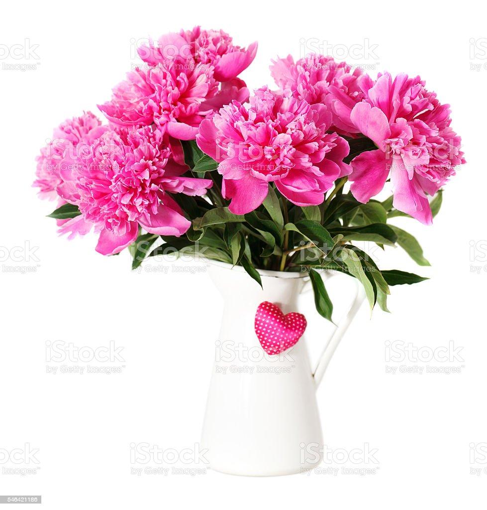 Pink peony flowers in vase stock photo more pictures of pink peony flowers in vase royalty free stock photo mightylinksfo