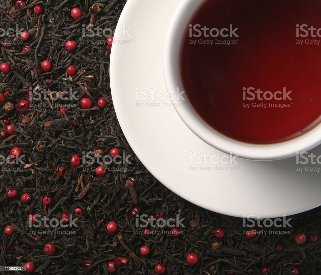 Pink Pepper Tea stock photo