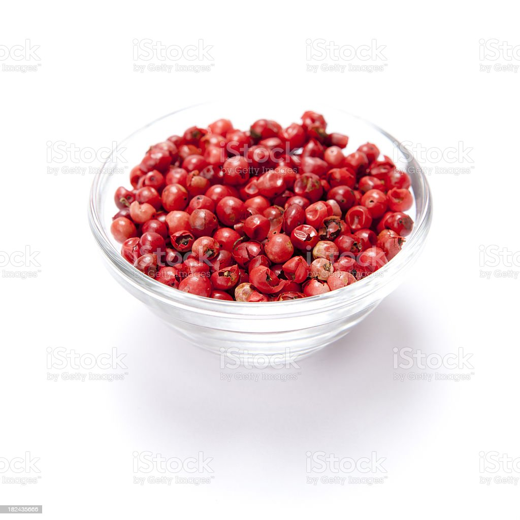 Pink peppercorn stock photo