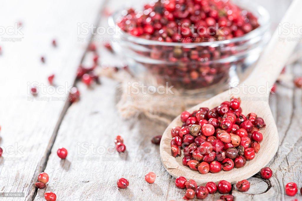 Pink Peppercorns (close-up shot) royalty-free stock photo
