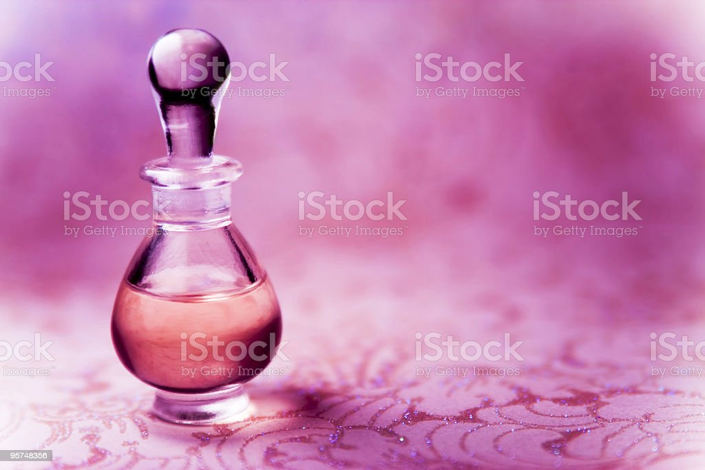 Pink Perfume Bottle royalty-free stock photo