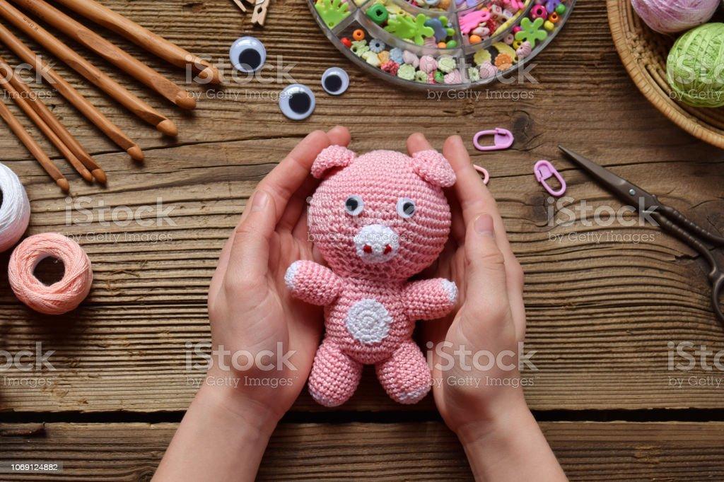 Crochet Pig, Pig Toy, Pig Stuffed Animal, Pig ... - Amazon.com   682x1024