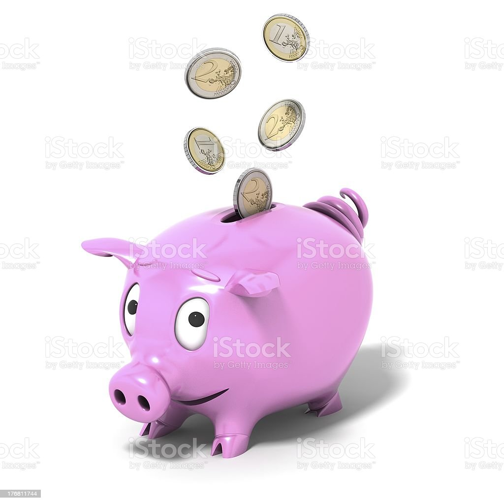 pink pig royalty-free stock photo