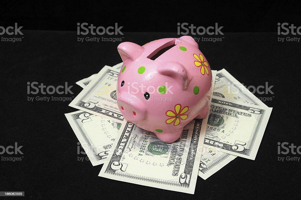 Pink Pig Piggy Bank royalty-free stock photo
