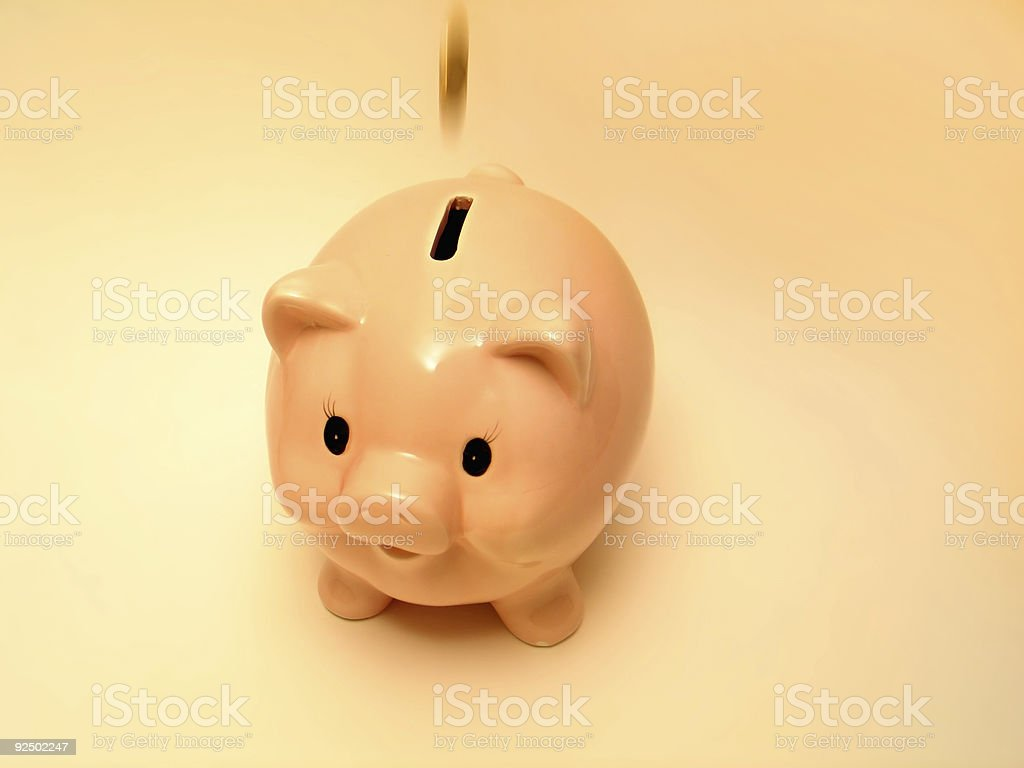 Pink piggy 2 royalty-free stock photo