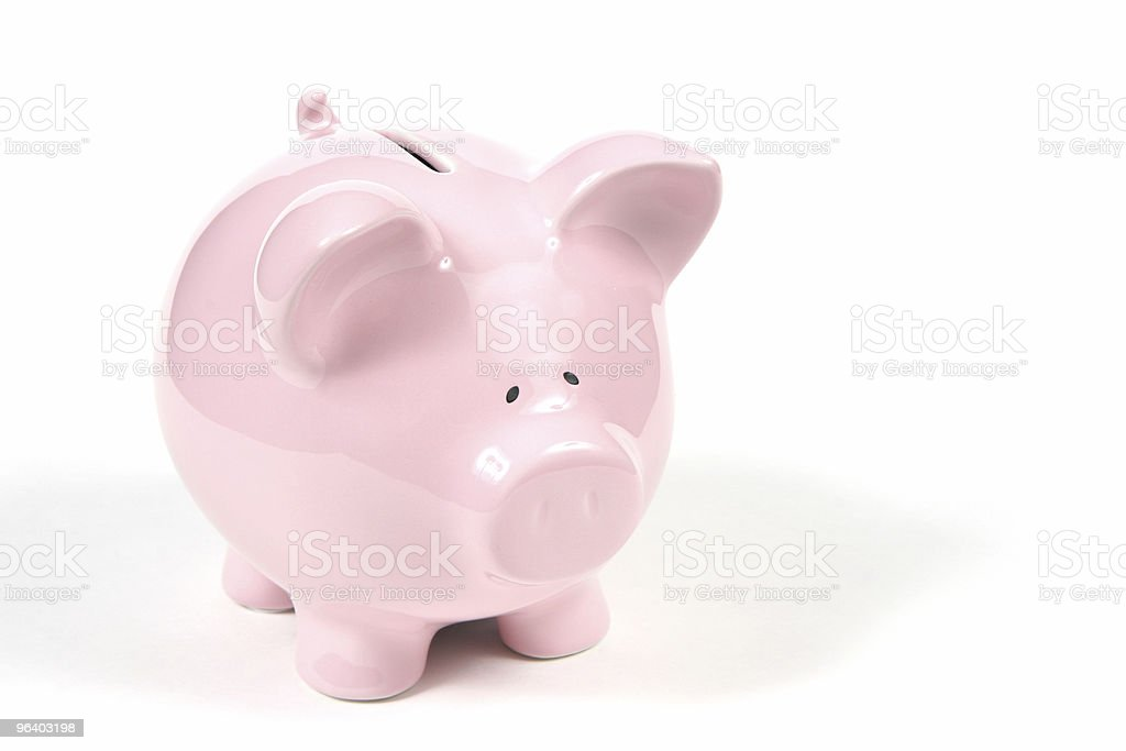 Pink Piggy Bank on white background 2 royalty-free stock photo