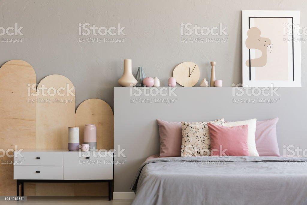 Modern bedroom interior design luxury bed stock photo edit now