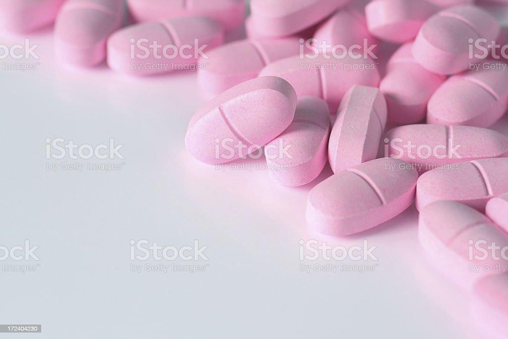 pink pills royalty-free stock photo