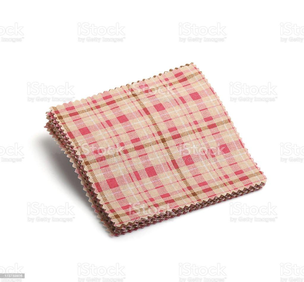 Pink Plaid Pattern Fabric Swatch royalty-free stock photo
